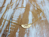 Walking on Sunshine Necklace in Gold
