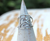 Silver Wave Ring Surfer Jewelry by Dreaming Tree Creations called the Swell Ring