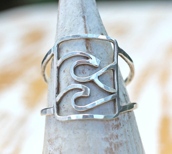 Wave Ring Jewelry - Swell Ring by Dreaming Tree Creations ocean wave ring