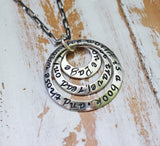 Inspirational Travel Necklace