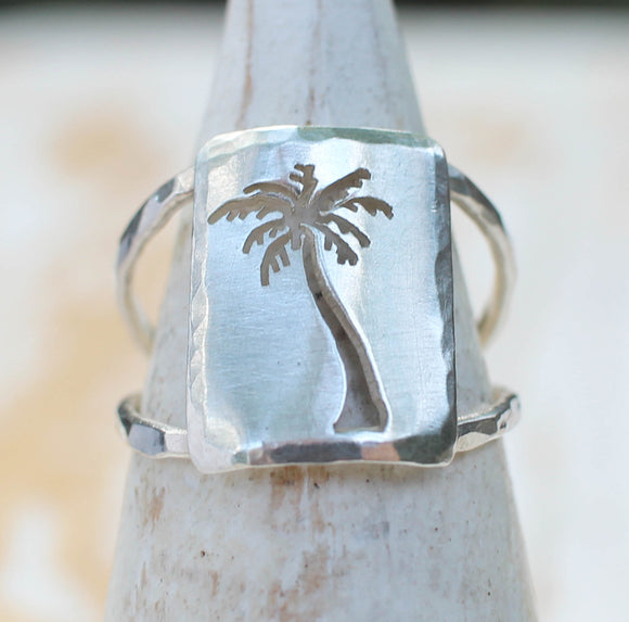 Palm Tree Ring by Dreaming Tree Creations