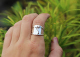palm tree ring on model the perfect handcrafted palm tree jewelry