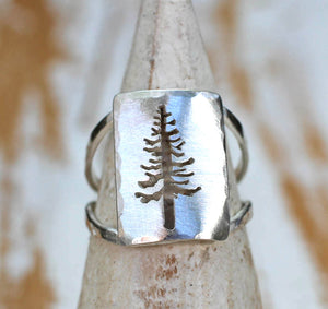 Pine Tree Ring Tree Jewelry and Nature Ring by Dreaming Tree Creations