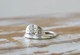 Walking on Sunshine Ring in Silver