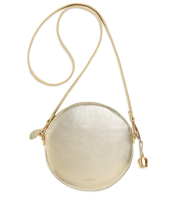 Bell & Fox Luna Gold Round Crossbody Bag/Wristlet Clutch