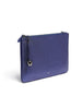 Bell & Fox Gia Metallic Blue Oversize Clutch/Crossbody Bag