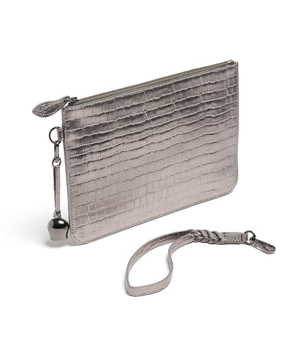 Bell & Fox Wristlet Clutch in Pewter