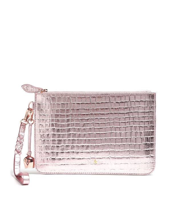 Bell & Fox Wristlet Clutch Rose Gold