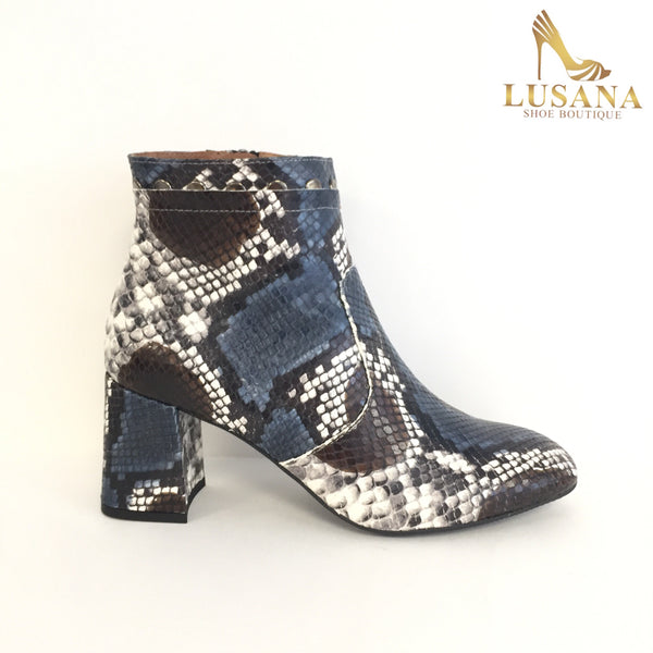 Marian Snakeprint Ankle Boot