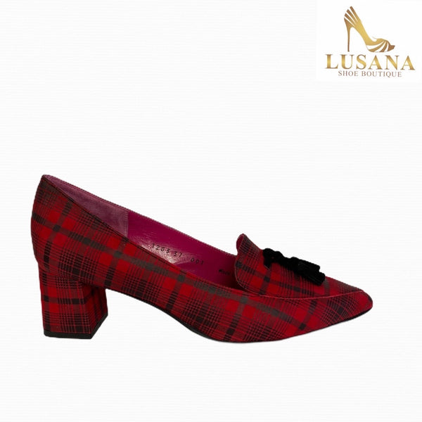 Le Babe Red Check Shoe (Style 1203W9)