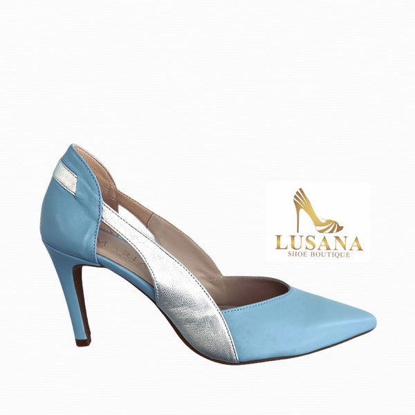 Marian Powder Blue Court Shoe - New