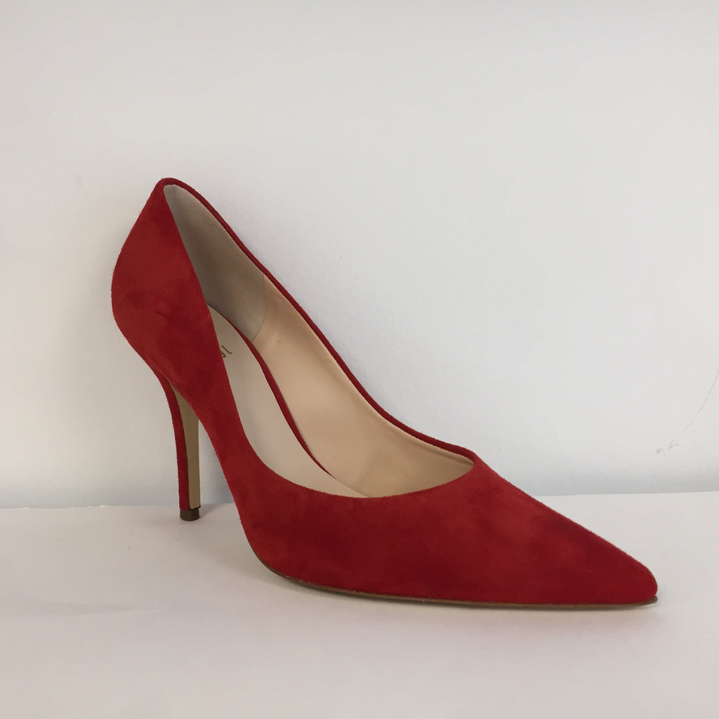 Hogl Red Suede Court Shoe