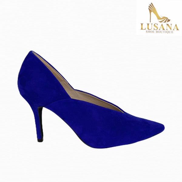 Marian Electric Blue Suede Shoe - New