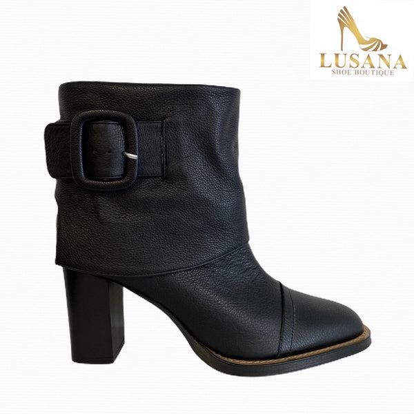Oxitaly Roja Black Leather Boot