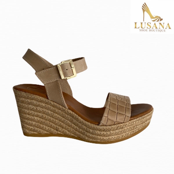 Viguera Beige Wedge Sandal - New