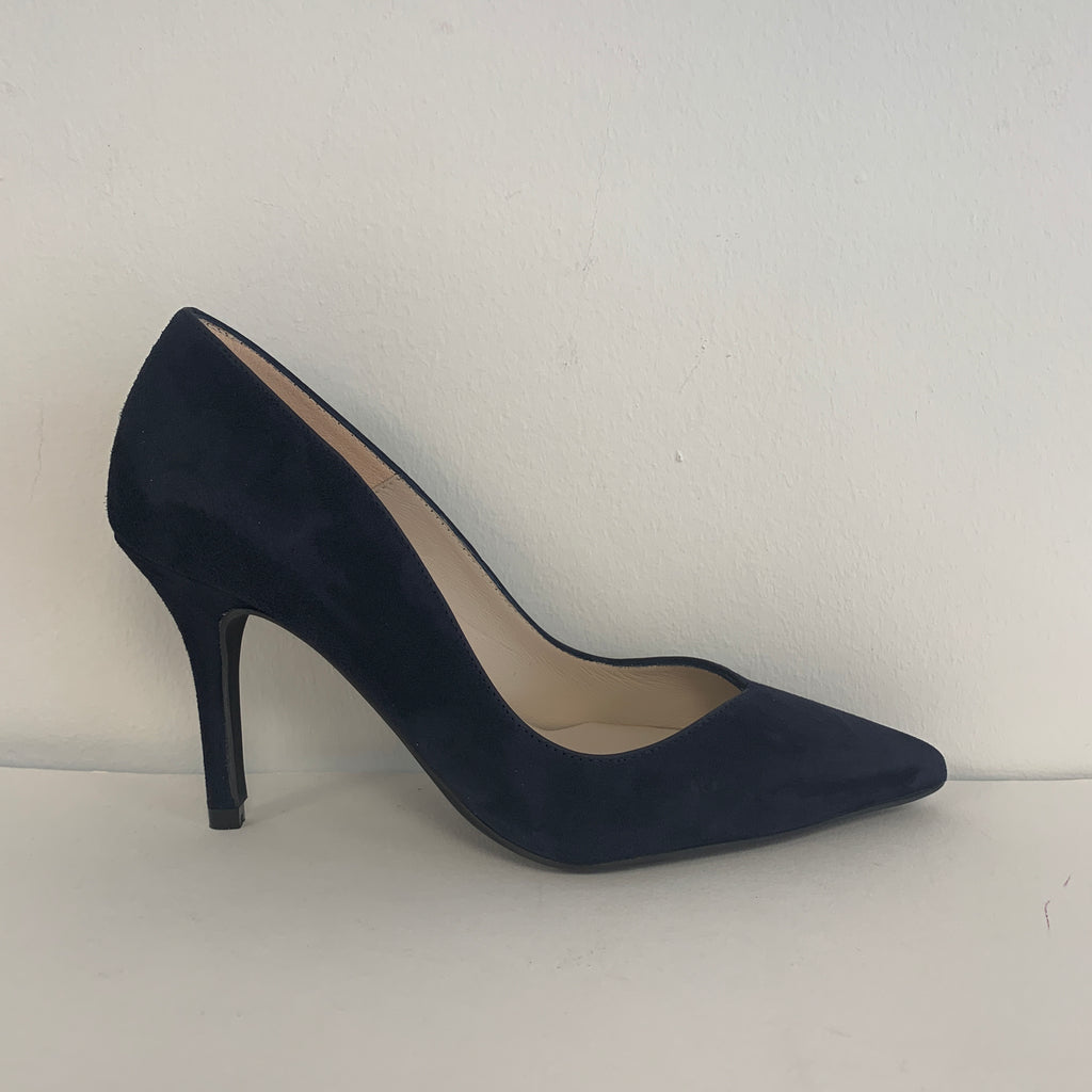Marian Navy Suede Shoe - New