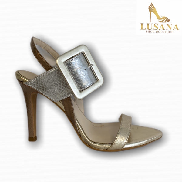 LODI Taela Metallic Gold Sandals - New
