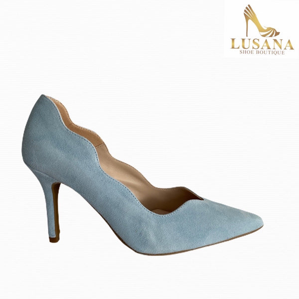 Marian Sky Blue Court Shoe