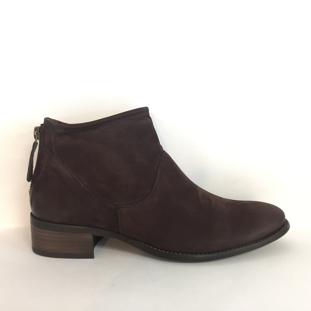 Paul Green Brown Nubuck and Suede Ankle Boot