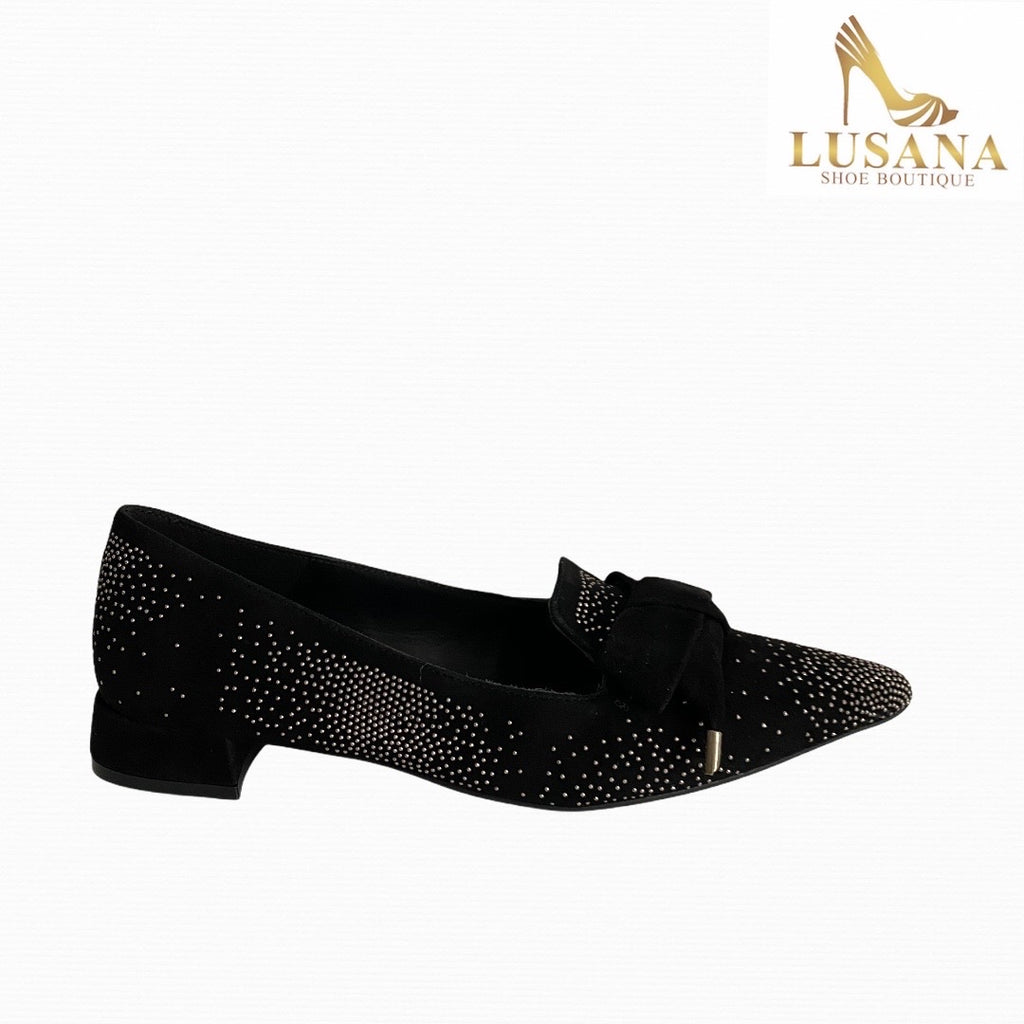 Marian Black Suede Loafer - New