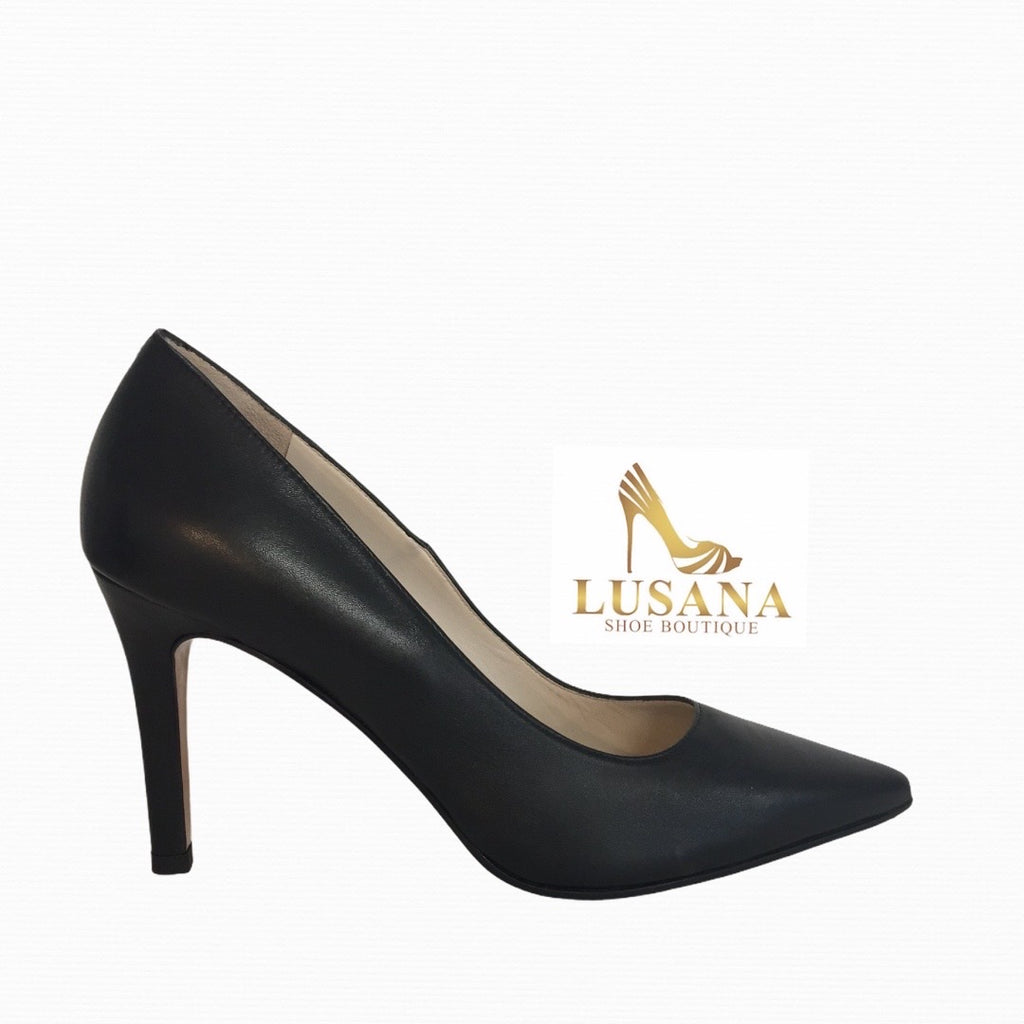 Lodi Rami Black Court Shoe