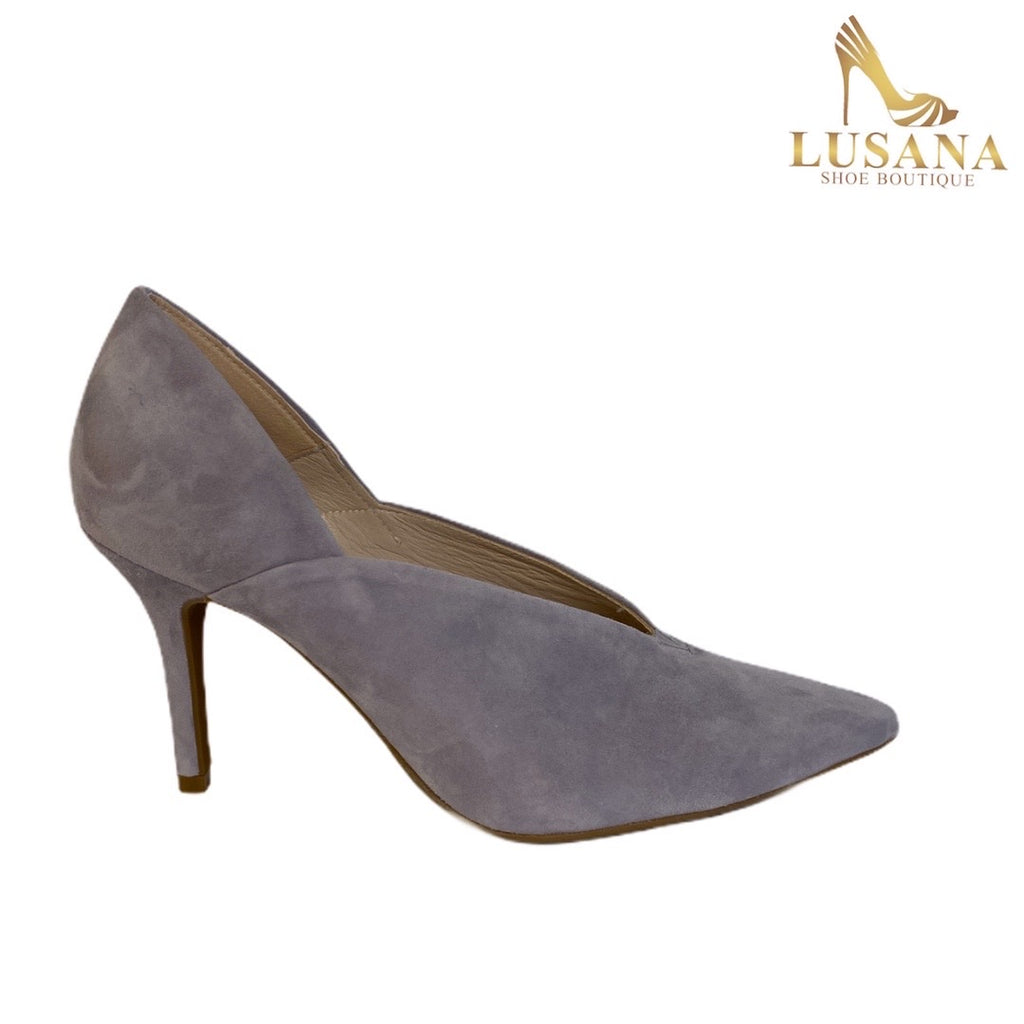 Marian Lilac Suede Court Shoe