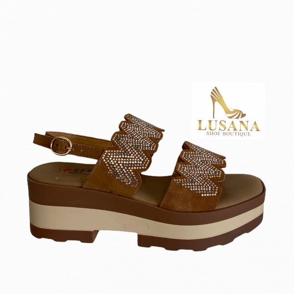 Repo Tan Suede Sandal - New