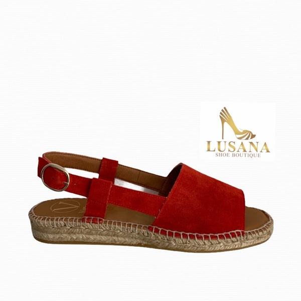 Viguera Red Espadrille Sandal - New