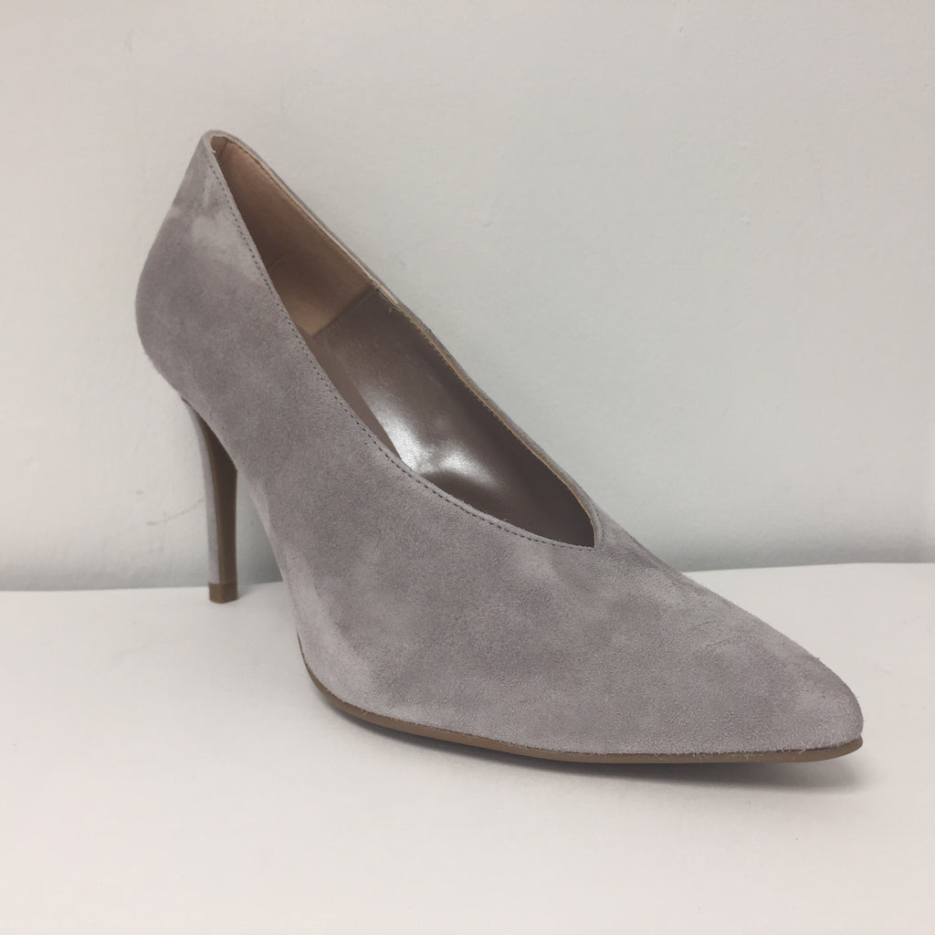 Marian Grey Suede V Pump