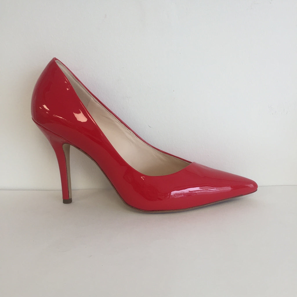 Högl Red Patent Court Shoe