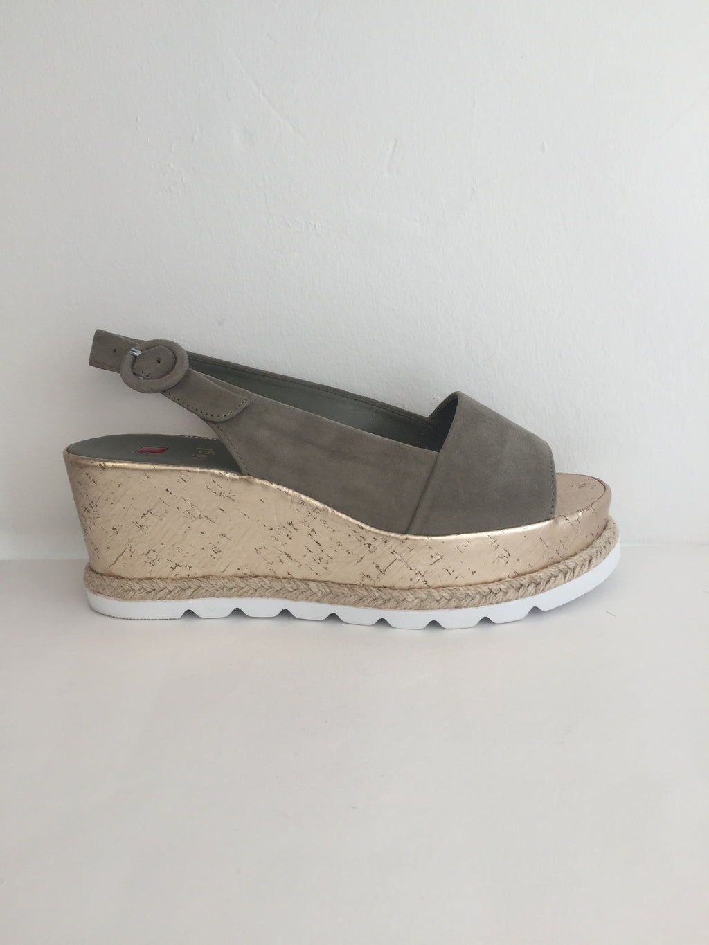 Högl Olive Green Wedge Sandal