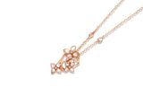 18K Rose Gold Crown Blossom Necklace