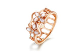 The Crown Blossom Stacking Ring