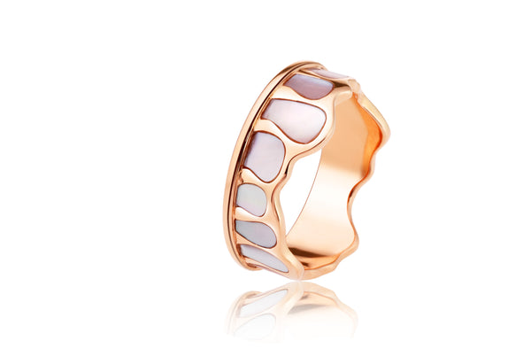 The Crown Shell Stacking Ring