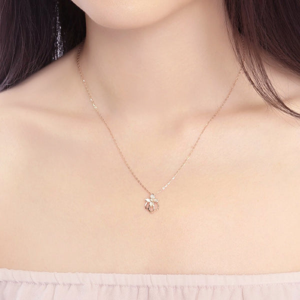 18K Rose Gold  Mini Crown Necklace