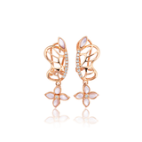 18K Rose Gold Butterfly Crown Earring