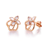 18K Rose Gold Mini Crown Earring