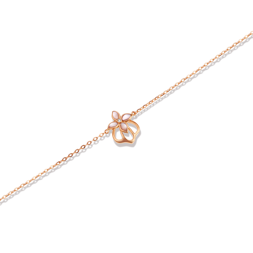18K Rose Gold Mini Crown Bracelet