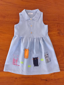 Kitten Dress (only size 3-4 left)