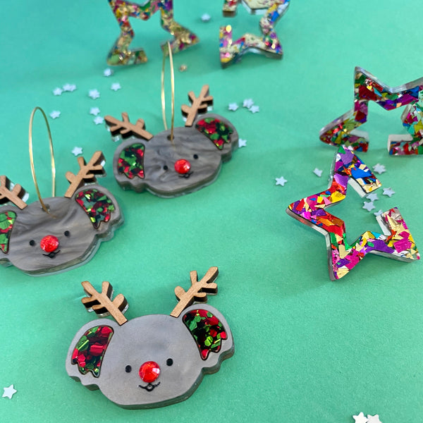 'Rudolph Kenny' Koala Earrings