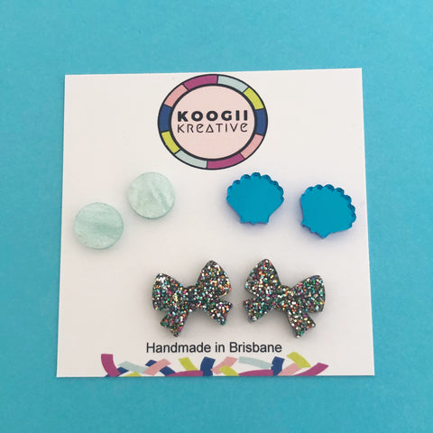 'MINI Lobelicious' Trio Stud Earrings (8 style packs)