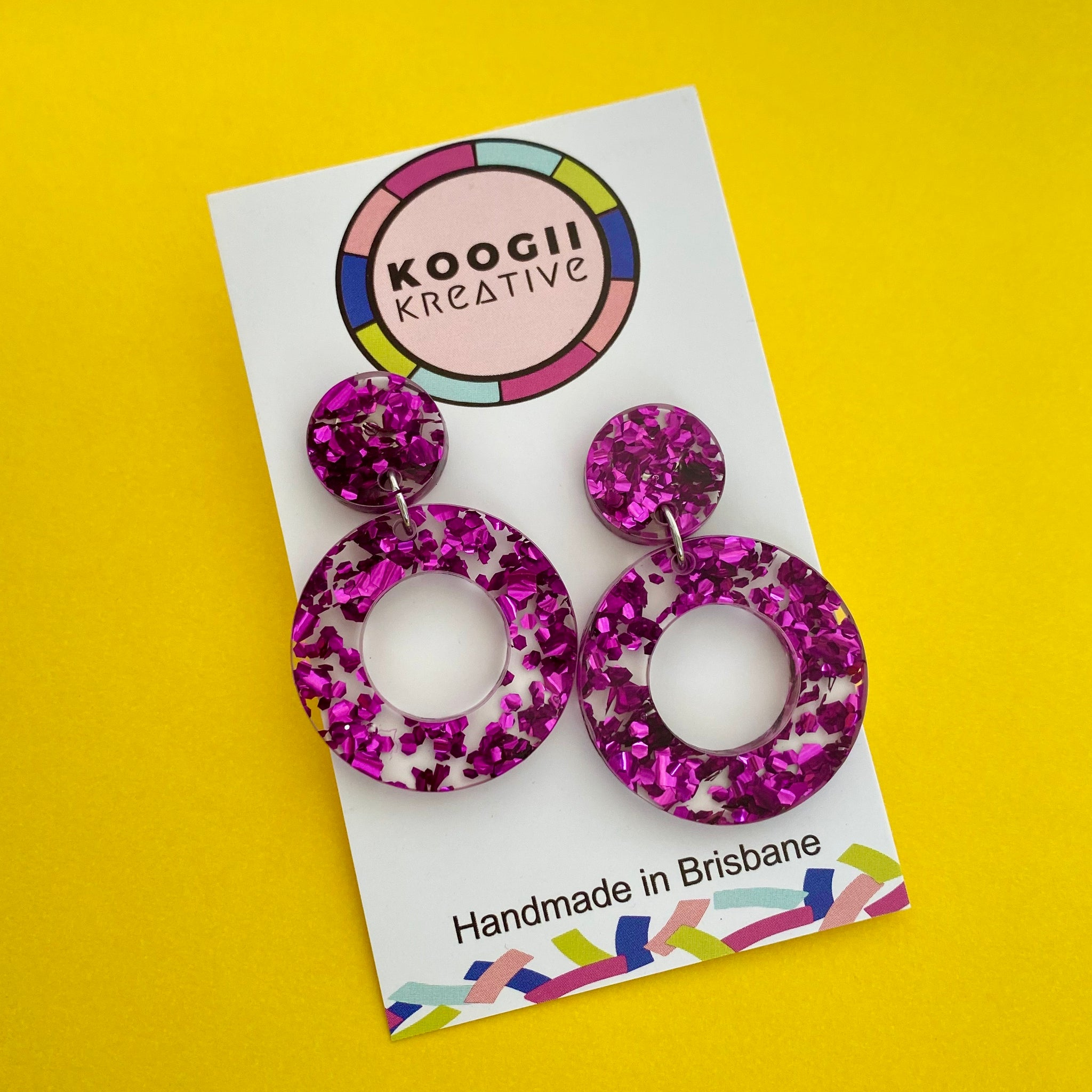 'Cookie' Dangle (CHOOSE COLOUR)