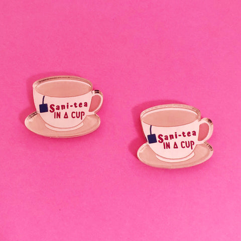 'Sani-Tea' Studs (choose colour)