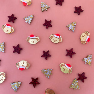 'Santa Kenny' Trio Stud Set (GOLD)