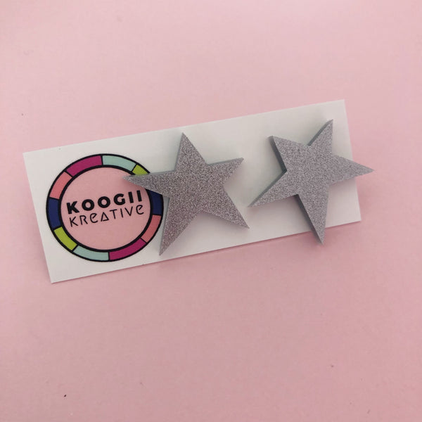 'Lobelicious' Single Stud (SILVER GOLD RAINBOW)
