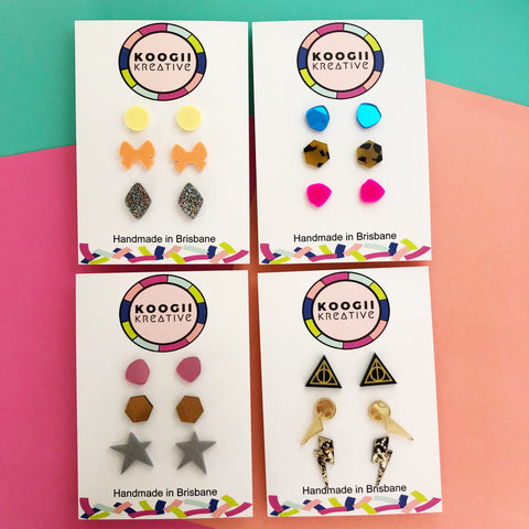 'Lobelicious' TRIO Stud Earrings (10 style packs)