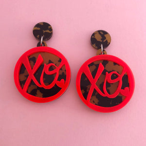 'XOXO' Dangles (choose colour)