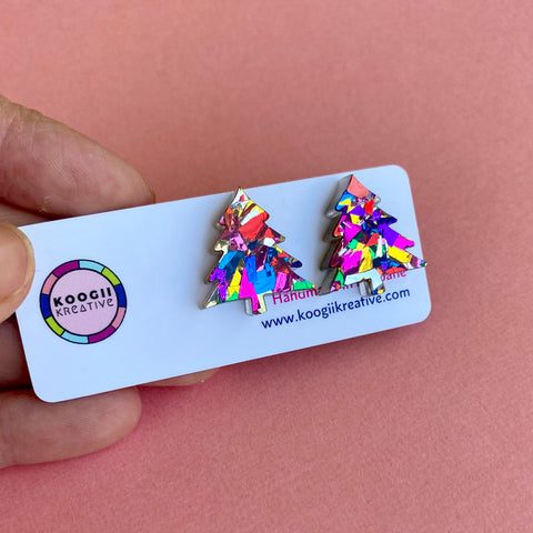 'Christmas Party Tree' Studs