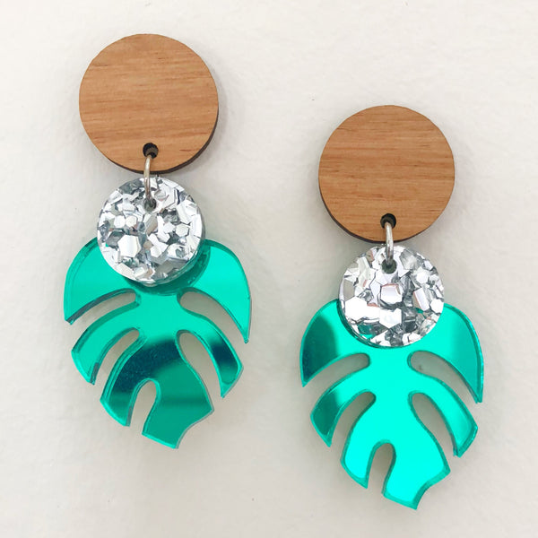 'Ava' Monstera Dangle (choose colour)