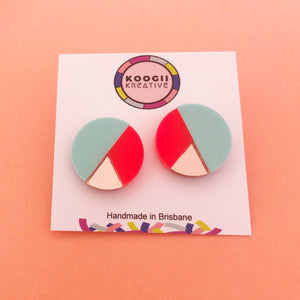 'Moon Tri' Stud (choose colour)